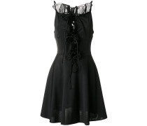 lace-up flared dress