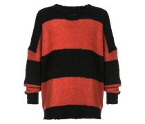 Oversized-Pullover mit Streifen