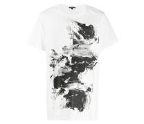 T-Shirt mit Pinselstrich-Print