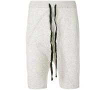 drop crotch cropped shorts