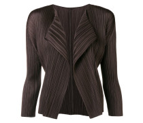 pleated asymmetric jacket