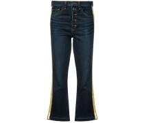 Jeans mit dekorativen Streifen