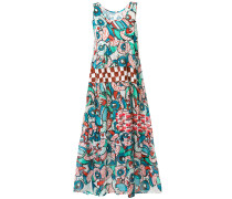 long sleeveless printed dress