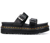 buckled ridged sole sandals