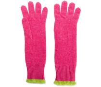 Handschuhe mit Kontrastborten