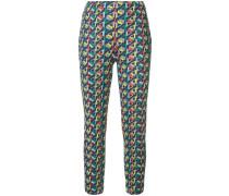 Skinny-Hose mit geometrischem Print