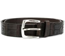 embossed alligator style belt