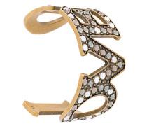 'Loved' Armband mit Perlen
