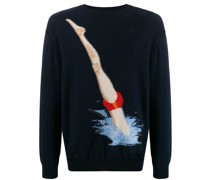 Intarsien-Pullover mit Taucher