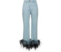 Jeans mit Federsaum