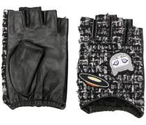 Fingerlose Handschuhe mit Tweed