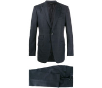 Anzug mit kleinem Karomuster
