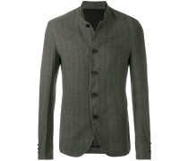 striped button jacket