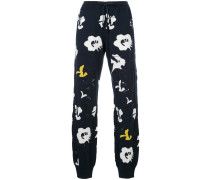 abstract knit jogging bottoms