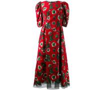 Kleid mit Anemonen-Print