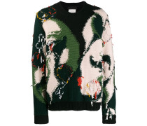 'All Together Now' Pullover im Inside-out-Look