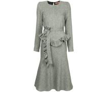 belted herringbone dress