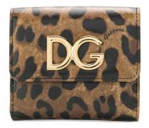 Kleines Portemonnaie mit Leoparden-Print