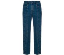 Jeans mit gerafftem Design