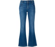 Ausgestellte Skinny-Jeans