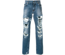 Gerade Jeans im Destroyed-Look