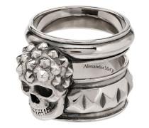 Breiter Totenkopf-Ring