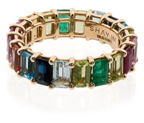 18kt 'Rainbow Eternity' Goldring