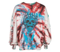 Batik-Sweatshirt mit Totenkopf