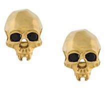 'Vampire Skull' Ohrringe aus vergoldetem Sterlingsilber
