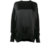 Sweatshirt mit Seideneinsatz