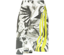 abstract print zipped skirt - Unavailable