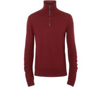 Merino-Pullover mit Reißverschluss