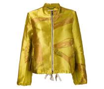 Metallic-Jacke mit Reißverschluss
