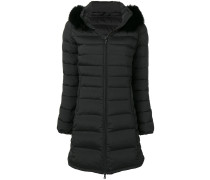fitted quilted parka