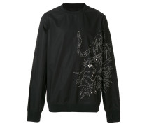 oversized embroidered sweatshirt - Unavailable