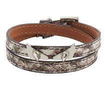 'Wonders' Armband aus Schlangenleder