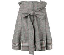 high-waisted check shorts