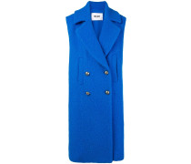 double-breasted sleeveless coat