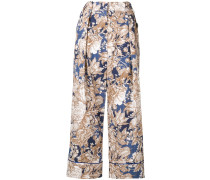 Axe floral print trousers