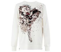 Sweatshirt mit aufgesticktem Wolf