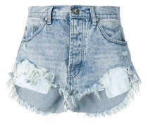 'Salty Dog' Distressed-Jeansshorts