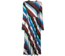 Diagonal gestreiftes Kleid