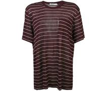 Gestreiftes T-Shirt mit rundem Ausschnitt