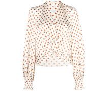 polka dot knot detail blouse