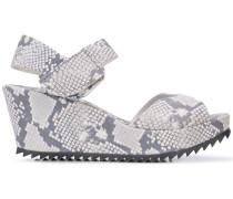 snake print platform sandals