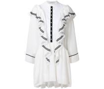 frill-trim shirt dress
