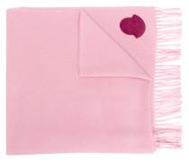 logo fringed scarf