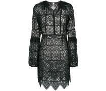 lace bell sleeve mini dress