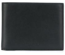 logo embossed bi-fold wallet