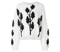 Pullover mit Blumenapplikationen